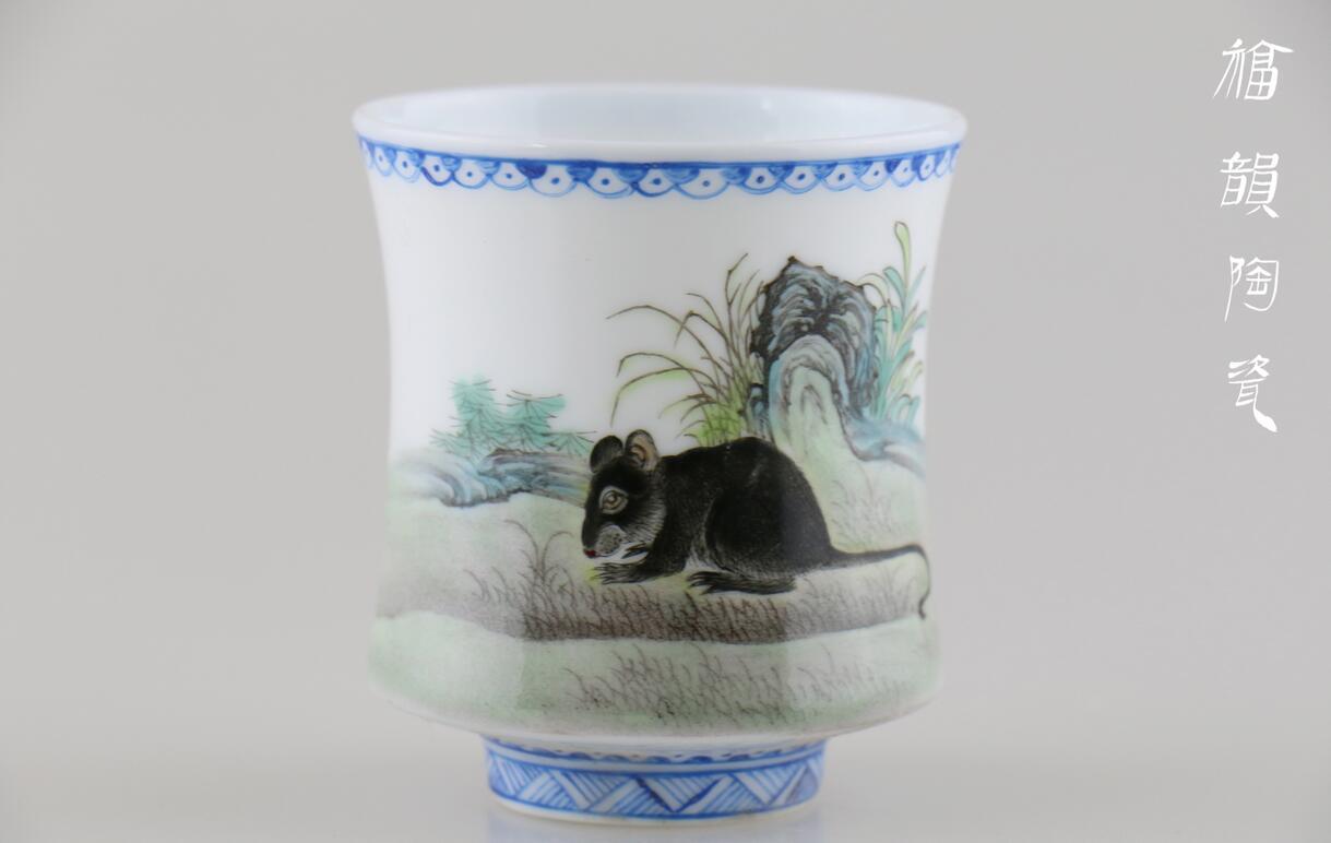 手绘十二生肖,栩栩如生,福韵陶瓷匠心打造!